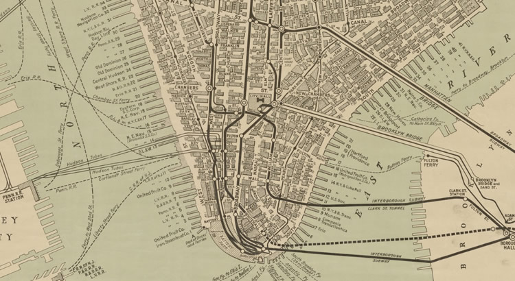 Map of Manhattan (1919)